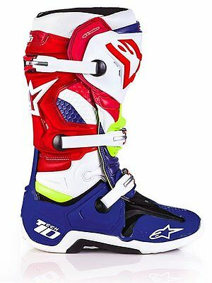 Alpinestars Tech 10 Nations LE Boots - Motocross Dirtbike Offroad 9 3410-1722