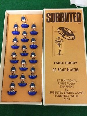 Subbuteo Rugby Team Ref No 5 - COMPLETE VGC - Collectable HEAVYWEIGHT