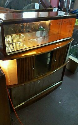 beautiful retro mid century vintage cocktail cabinet