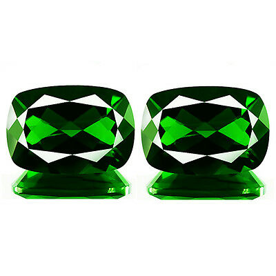 1.57ct EYE CLEAN NATURAL EARTH MINED RARE 5A GREEN CHROME DIOPSIDE PAIR REF VDO