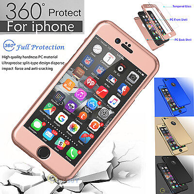 360° Case For iPhone 8 6S 7 / 7 + Full Protection Hybrid Acrylic Slim Hard Cover