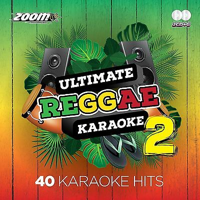 Zoom Karaoke Ultimate Reggae 2 Double CD+G Clean Lyrics New Sealed