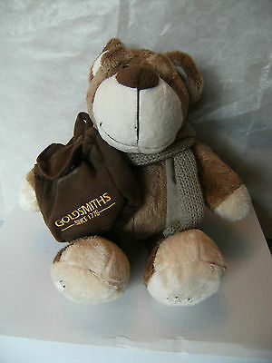 Goldsmiths Bertie Bear 2007 with pocket for a gift 11""