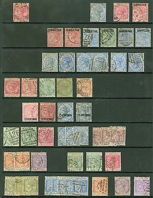Early Gibraltar. Used selection on 2 stock cards. Good to fine used. Nice...