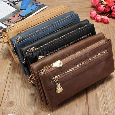 US Fashion Lady Women Zipper Clutch Long Wallet Card Holder Case Purse Handbag