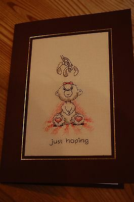 Completed Cross Stitch Christmas Card - JUST HOPING ...