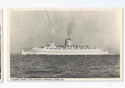 Postcard Canadian Pacific Liner Empress of Britain Steam Ship