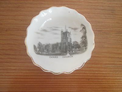 Small W.H. Goss Porcelain Dressing Table Pin Tray - Image of Chard Church