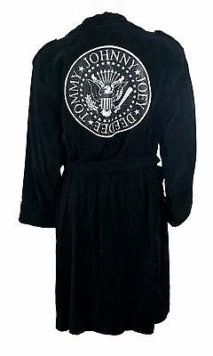 Ramones: Biker Jacket Cotton Bathrobe / Dressing Gown - New & Official With Tag