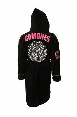 Ramones: Hey Ho Fleece Bath Robe / Dressing Gown - New & Official With Tag