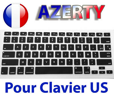 "☆ Protège Clavier Version FR Azerty pour Layout US Macbook Air Pro 13"" 15"" 17"" ☆"