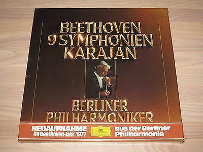 DGG BEETHOVEN 8 LP BOX - 9 SYMPHONIES / KARAJAN in NEW SEALED NIP
