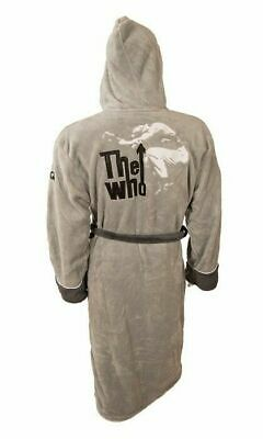 THE WHO LEAP GREY BATHROBE / Dressing Gown - New & Official With Tag