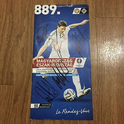 AUTOGRAPHED HUNGARY v NORTHERN IRELAND 07/09/2014 OFFICIAL MATCH PROGRAMME