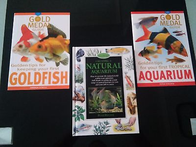 3 x NEW AQUARIUM BOOKS tropicals fish tank aquascaping biotypes goldfish + DVD