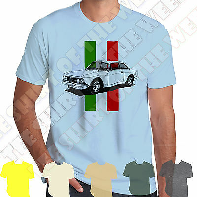 Alfa Romeo GTV 1750 Gt Veloce T-shirt Personalised plate opt +7 colours of Tee