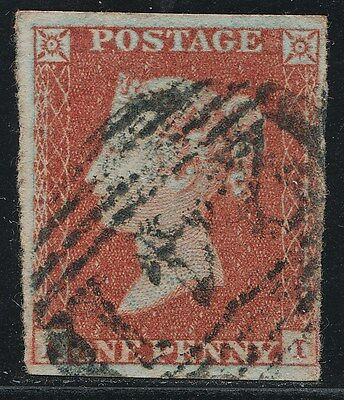 1851 Penny Red Spec BS32 Plate 108 (AI)  Fine Used 4 Margins
