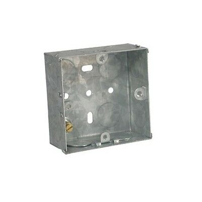 Single 1 Gang 35mm Deep Steel Flush Mounting Box 72x72x35mm - DB164 (ES1)