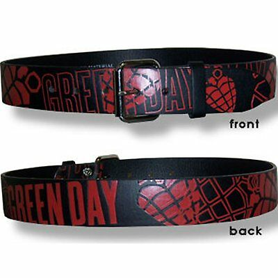 Green Day! Red Heart Grenades Black Belt S New