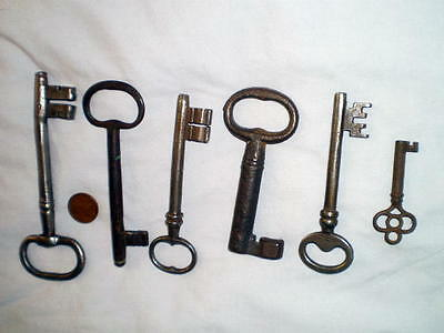 Skeleton Keys Very Large 6-4-1 price Vintage Antique Lock Door Gate Cupboard