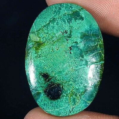 26.80Cts 100% NATURAL GREEN CHRYSOCOLLA OVAL CABOCHON UNTREATED AAA GEMSTONE