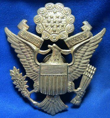 Pre-WWII 1930s Army Officer Barracks Hat Badge