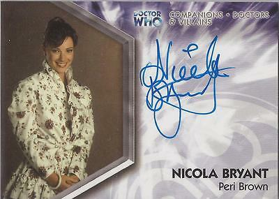 "Doctor Who Trilogy - DWTA4 Nicola Bryant ""Peri Brown"" Autograph Card"