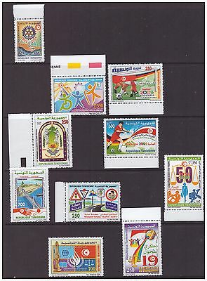 Tunisia 2005-2006 collection of 9 difference issues mint MNH stamps