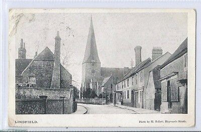 Postcard Lindfield Village H Tullett Haywards Heath 1904 Cuckfield Cancel