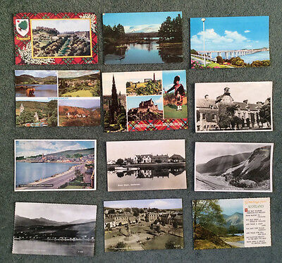 SCOTLAND; postcards 1950s-70s used;lot of 12;inc.BLAIRGOWRIE,ISLA,ST.ANDREWS,TAY