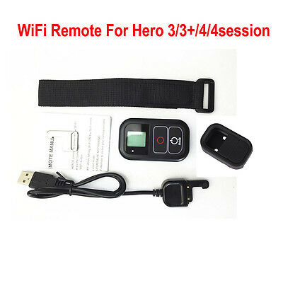 Black Wireless Wifi Remote Control & Case for GoPro Heo 3/3+/4/4Session Cameras