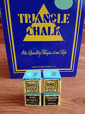 4 pieces blocks of genuine green triangle chalk (tweetens)usa king of them all