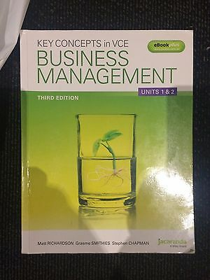 Key Concepts in VCE Business Management Units 1&2 (3rd edition)
