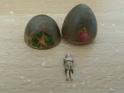 Worlds Smallest Doll In Wooden Egg Late Victorian Collectible