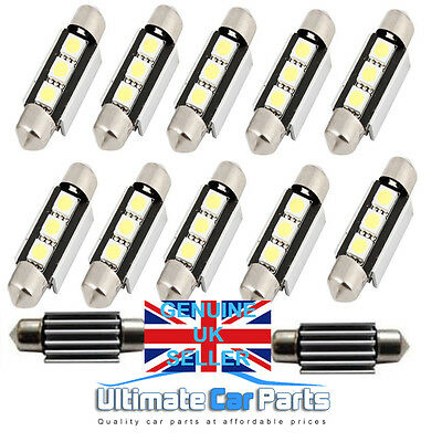 Interior / Number Plate Led Festoon 239 38Mm 39Mm Canbus Bulb In Pure White