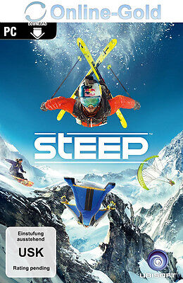 Steep - Uplay Ubisoft Digital Download Code - PC Key Standard Version NEU EU/DE