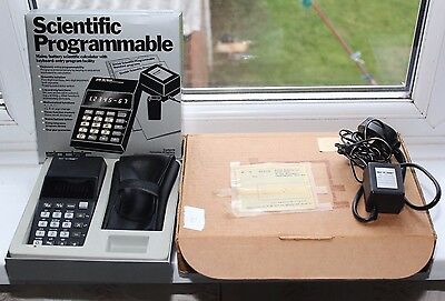 Vintage Sinclair Scientific Programmable - original box and adaptor - WORKING