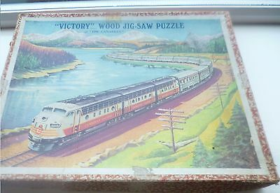 Vintage Victory Wooden Jigsaw The Canadian (Train)  Complete  Boxed