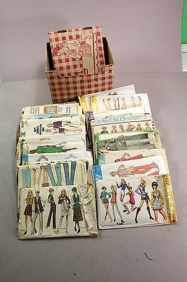 Lot of 25 Vintage Craft Sewing Patterns Womens Casual Clothing  60's and 70's #1