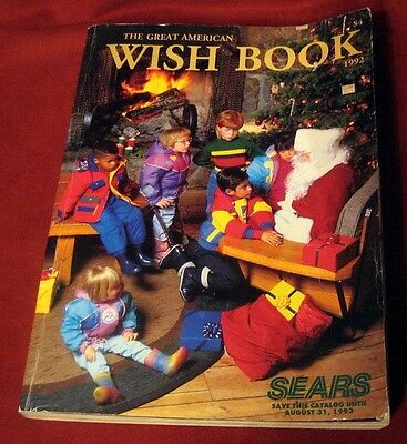 Sears Christmas Wish Book 1992 Toys Fashion Catalog Children Vintage Clothing