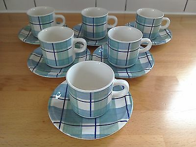 Grindley - Highland Tartan Design - Set of 6 cups and saucers, great condition