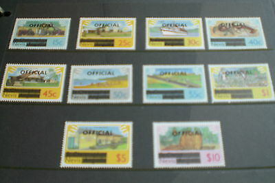 Nevis Stamps- Definitives Official Overprinted