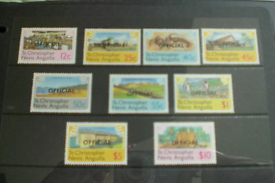 Nevis Stamps-St Christopher, Nevis,anguilla Definitives Offical Overprints Rare