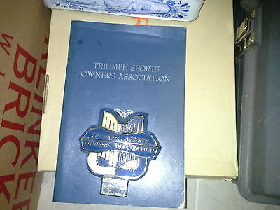 Triumph Sports owners Association (TSOA) Handbook and Badge