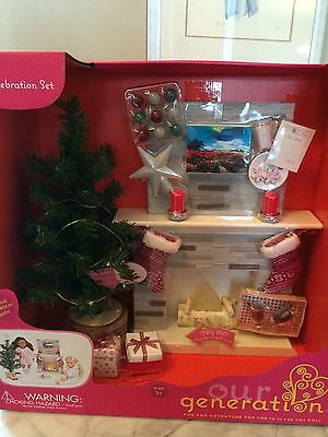 """Our Generation Holiday Set for 18"""" Doll Christmas New"""