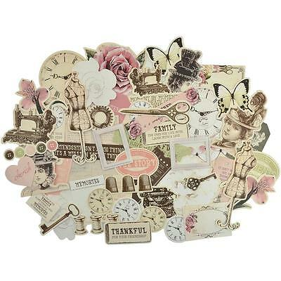 Mademoiselle  Diecuts Kaisercraft Collectables Cardstock Die Cuts Vintage