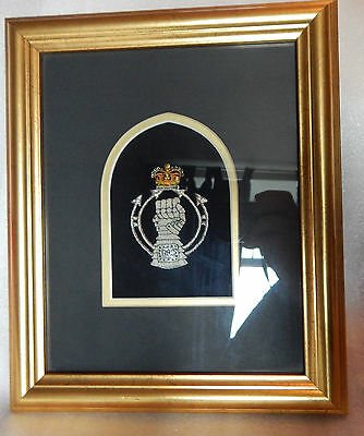 pro Framed Royal Armoured  Corps Bullion Badge very well made piece