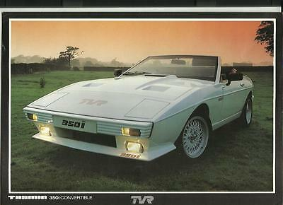 TVR TASMIN  350i CONVERTIBLE SALES  'BROCHURE' SHEET MID 1980's