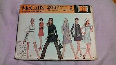 1960s 1970s Vintage Retro McCall's Pattern DRESS