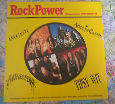 """Rock Power 7"""" Ep: Love/hate, Alice In Chains, Mindfunk, Tipsy Wit"""